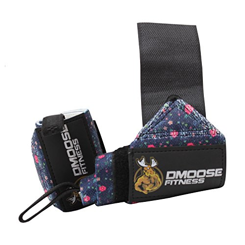 DMoose Fitness Wrist Wraps - Premium Quality, Strong Fastening Straps, Thumb Loops - Maximize Your Weightlifting, Powerlifting, Bodybuilding, Strength Training & Crossfit ...