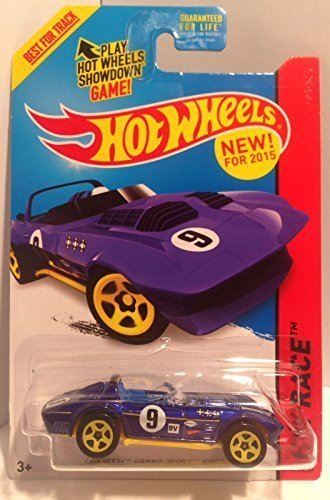 (Hot Wheels 2015 Track Aces Models Corvette Grand Sport Roadster Dark Blue 179/250)