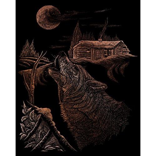 ROYAL BRUSH Copper Foil Engraving Art Kit, 8-Inch by 10-Inch, Howl