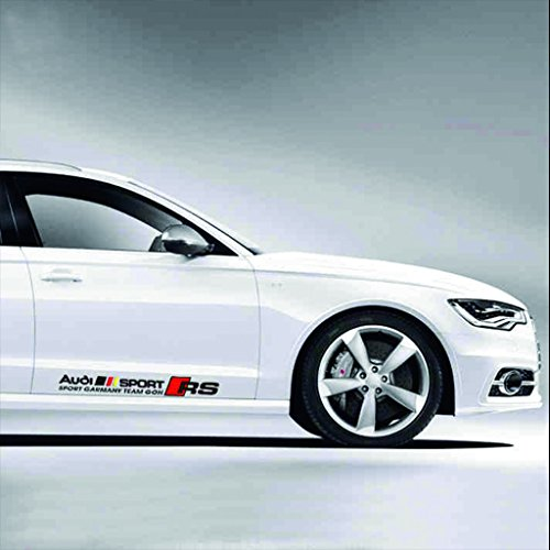 Kaizen RS Sticker For Car Door Side Skirt Sticker Vinyl Sticker For Audi S3 S4 S5 TT A4 Q5 X8 X9 And Any Other Model Color Black