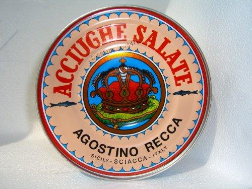 (Italian Anchovies in Salt Agostino Recca, 1.76-Pound)