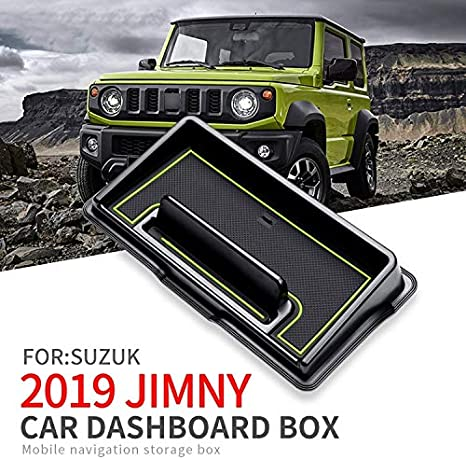 Linfei Car Dashboard Storage Box For Suzuki Jimny 2019 Multifunctional Non Slip Phone Storage Box Car Interior Accessories Amazon Co Uk Car Motorbike
