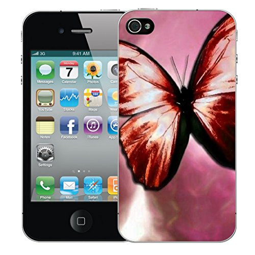 Mobile Case Mate iPhone 4 Silicone Coque couverture case cover Pare-chocs + STYLET - Pink Endearment pattern (SILICON)