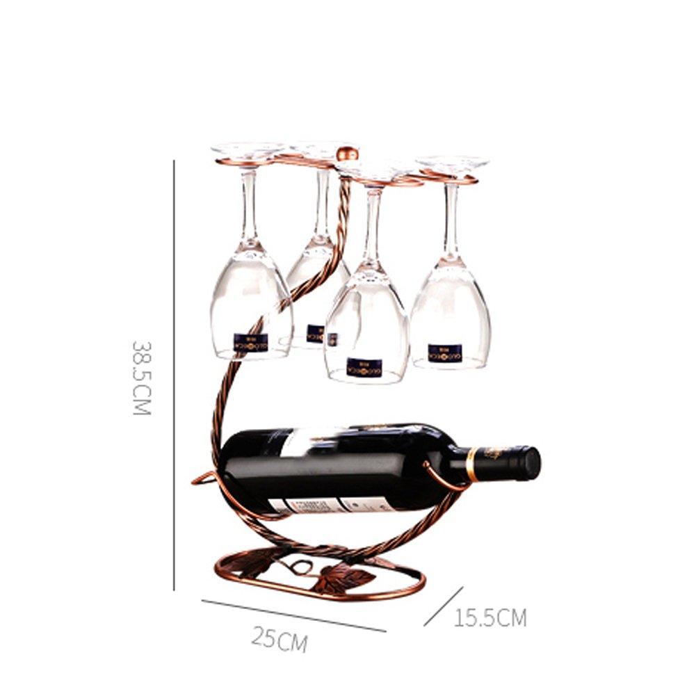 XKS Sostenedor Clásico Elegante De La Copa De Vino De Bronce - Exhibición Del Sostenedor De La Taza Del Secador Del Aire - Sostenga 4 Vidrios: Amazon.es: ...