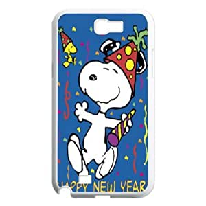 Samsung Galaxy Note 2 N7100 cell phone cases White Charlie Brown and Snoopy MN697141