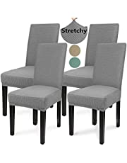 Chair Covers for Dining Room, Stretch Dining Chair Slipcover Spandex Elastic Removable Washable Parson Chair Seat Covers Protector for Dining Room Home Decor Living Room Kitchen Hotel Ceremony