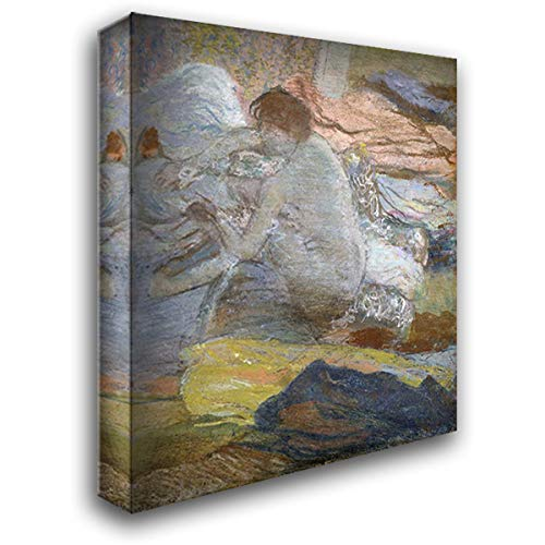 (Woman Wiping Her Feet 28x32 Gallery Wrapped Stretched Canvas Art by Degas, Edgar)