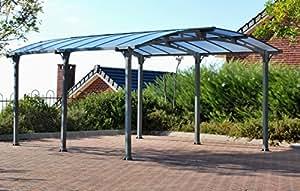 Palram Arcadia 5000Carport gris-robusta estructura para uso durante todo el año