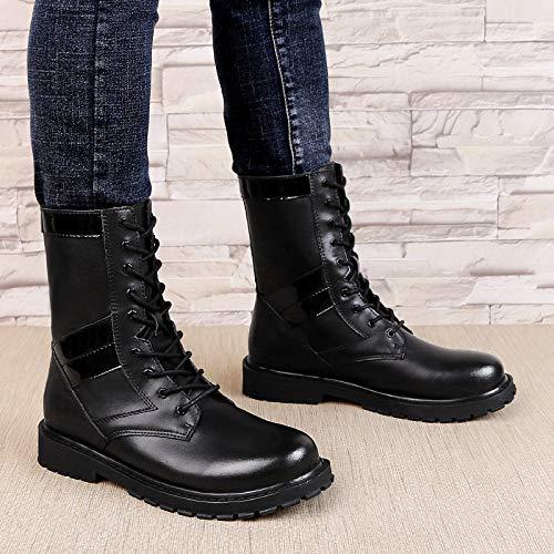 Combattimento Escursionismo Militare Shoes Aperta Tattici Scarpe Campeggio Black01 Up Sport Lavoro All'aria In Stivali Top Pelle High Gli Desert Dell'esercito Uomini Lace qgzWxTPPf4