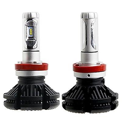 Car X3 LED Headlight Bulbs(2pcs) & LED Bulbs 50W 6000lm Super Bright High Power ZES LED Chips and DIY 3 Colors (White / Gold / Ice Blue) Single Beam LED Headlight Bulbs Conversion Kits--H11