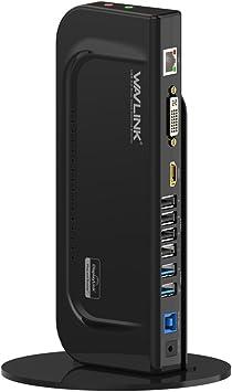 WAVLINK USB 3.0 Universal Docking Station con Peana Desmontable ...