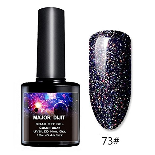 Huphoon Nail Polish 12ML Starry Sky Glitter Long Lasting UV