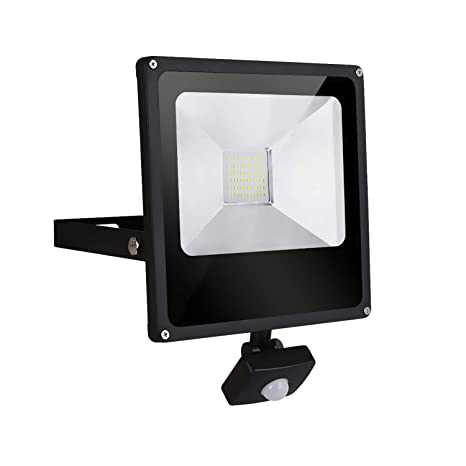 TOPLANET Focos Led 30W Exterior con Sensor Movimiento Foco Proyector LED IP66 Impermeable LED Seguridad Floodlight