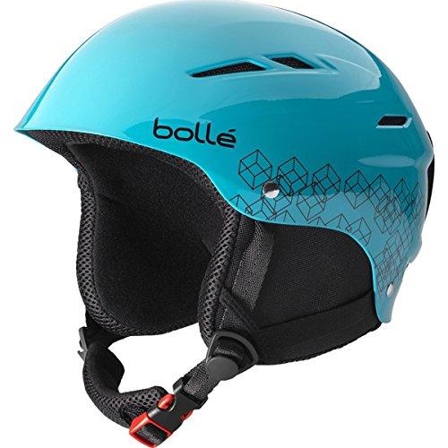 Bolle B-Rent Jr. Ski Helmet (Shiny Blue & Black - 52-54cm) (Bolle Ski Youth Helmet)