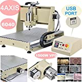 Power Milling Machines by Feiuruhf,4 Axis 6040 USB Port 1500W CNC Router Engraver Print Engraving Cutting MACHINE MACH3 VFD Machine Milling Drilling Milling Machine