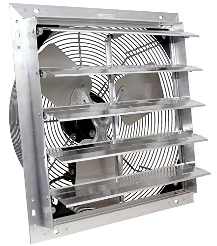"VES 24"" Exhaust Shutter Fan, Wall Mount, 3 Speed"