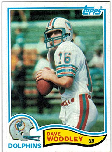 (1982 Topps Miami Dolphins Team Set with Dave Woodley & AJ Duhe - 17 NFL Cards)