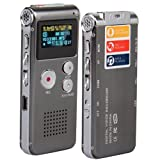 8GB Digital Voice Recorder Dictaphone MP3 Player USB WAV
