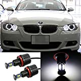 iJDMTOY 360-Degree 80W XB-R5 CREE High Power H8 LED BMW Angel Eyes Ring Marker Bulbs for BMW 1 3 5 Series Z4 X5 X6