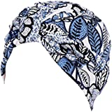 Women Turban Head Wrap India Scarf Hat Muslim Ruffle Cancer Chemo Beanie Cap