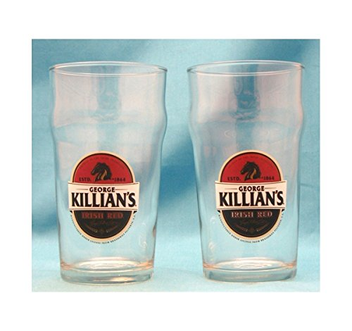 George Killian's Irish Red 16 Ounce Nonic Pint Beer Glass, Set of -