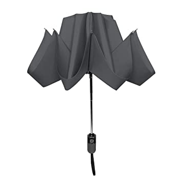 b3f0029ba Amazon.com: ShedRain UnbelievaBrella Reverse Compact Umbrella:Charcoal  Grey: Clothing