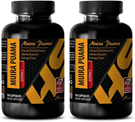 Sexual Drive for Men – Muira PUAMA Extract – Pills for Male Stamina – 2 Bottles 180 Capsules