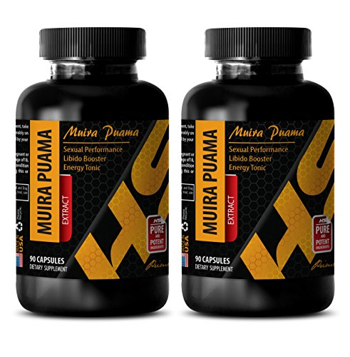 Libido enhancement pills - MUIRA PUAMA EXTRACT - Supplements for sex drive - 2 Bottles 180 Capsules by HS PRIME