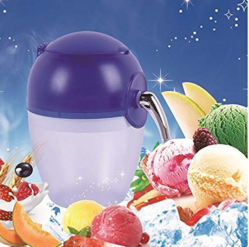 Hand-operated ice machine, home mini ice crusher, portable manual crank crushed ice, household snow cone frozen drink