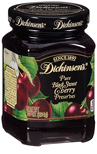 Dickinson's Preserves, Bing Cherry, 10-Ounce (Pack of 6) (Hero Jelly)
