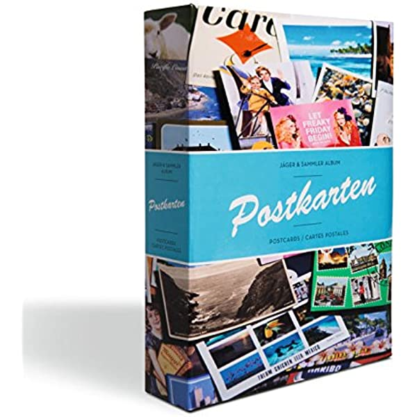 Álbum para tarjetas postales incl. 50 fundas para 4 tarjetas por funda, diseño B: Amazon.es: Juguetes y juegos