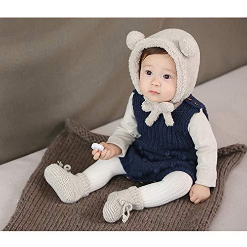 IMYQMYWLE Baby Winter Girl Hat 12 Months Warm Cashmere Autum Hat Beanie Infant Toddler Bonnet Cap Kids Beige