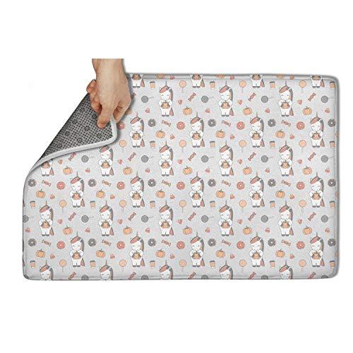 Gaaskelled Large Indoor/Outdoor Doormat,Unicorn Cute Cartoon Halloween Non