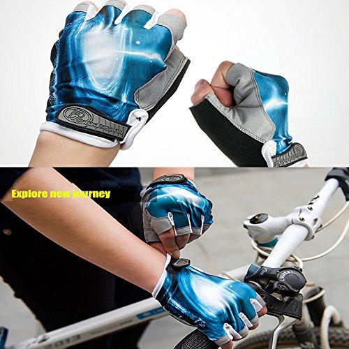Ezyoutdoor Bike Full Finger Glove Riding Glove Breathable Unisex Reflex Outdoor Cycling Skiing Skateboard Shock Pads by ezyoutdoor (Image #5)