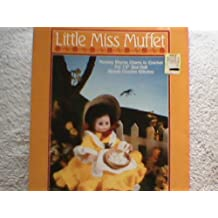 """Little Miss Muffet FCM 158 (Nursery Rhyme Charm to Crochet for 13"""" Bed Doll-Simple Crochet Stitches)"""