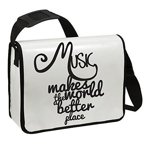 Piano Borsa a tracolla zaino borsa a tracolla musica Music Makes The World a Better Place ta185