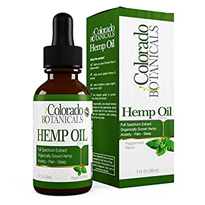 Full Spectrum Hemp Oil - 300mg 1oz - Natural Hemp Extract With 0% THC | Pure Organic | Relief for Depression, Anxiety, Stress, Sleep, Pain - Improve Mood & More! | Rich in Omega 3,6, & 9 Fatty Acids