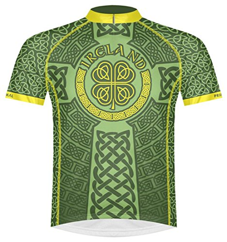 - Primal Wear Ireland Celtic Knot Cycling Jersey Men's XL Short Sleeve Irish Green