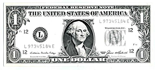 Dollar Rent A Car Federal Reserve Note One $ Bill Advertising Item ()