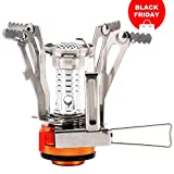 Reehut Ultralight Portable Windproof Camp Stoves for Camping, Outdoor, Backpacking & Hiking (Orange)