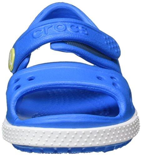 Crocs Crocband II Sandal PS, Sandalias de Punta Descubierta Para Niños Azul (Ocean/tennis Ball Green)