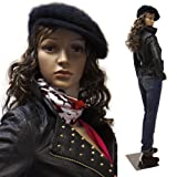Realistic Standing Female 33''-24''-34'' Mannequin + Base & 2 Free Wigs (F-11+2)