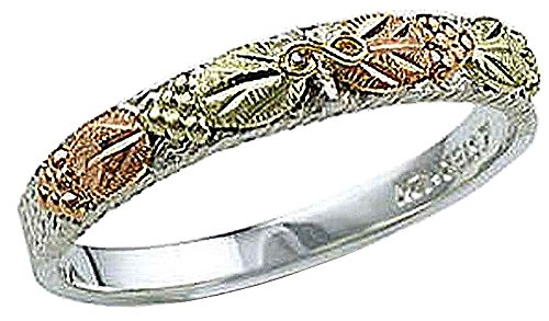Black Hills Diamond Bands - Landstroms Black Hills Silver UNISEX Ring for Men or Ladies - MRLC207