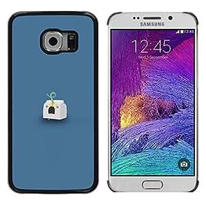 Caucho caso de Shell duro de la cubierta de accesorios de protección BY RAYDREAMMM - Samsung Galaxy S6 EDGE - Headshot Leche