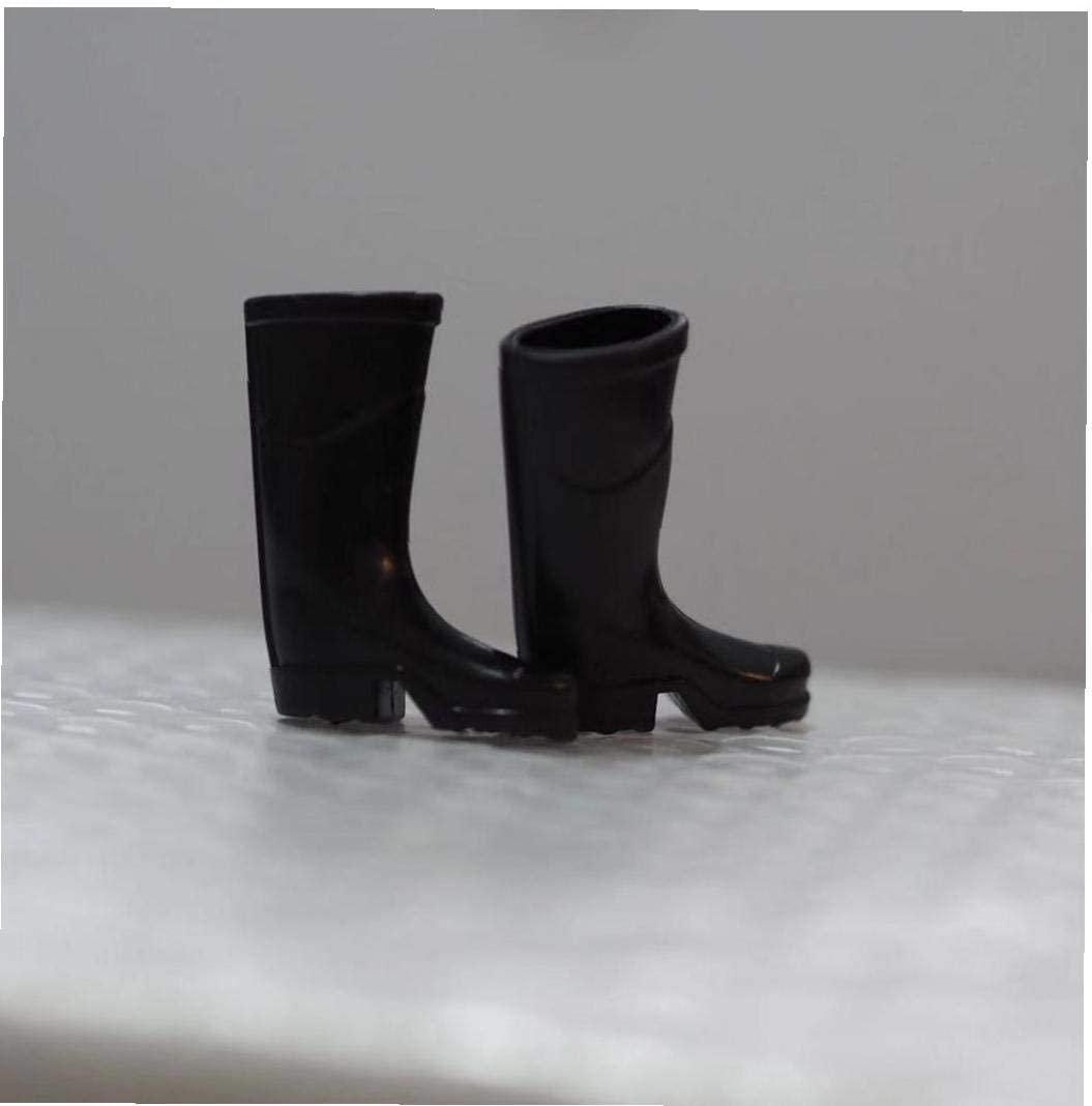 1//12 Skala Miniatur Schwarz Regen Stiefel Schuhe PuppenhausFee Garten Zubeh/ör Puppenstuben MiniaturSzene Modell Puppenkleidung