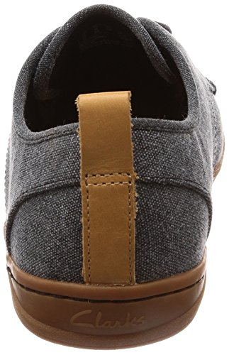 Clarks Mapped Mix - Zapatos de Cordones de Lona Para Hombre Negro Negro