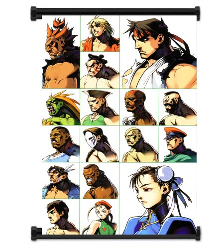 Super Street Fighter 2 Turbo Game Fabric Wall Scroll Poster (32x42) Inches: Amazon.es: Hogar