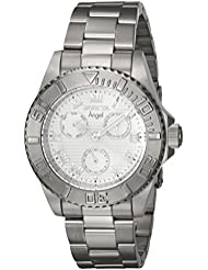 Invicta Womens Angel Quartz Stainless Steel Casual Watch, Color:Silver-Toned (Model: 17523)