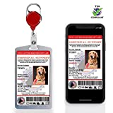 XpressID Custom Holographic Emotional Support Animal ID Card and Digital ID for Mobile Device | Registration to Service Animal Registry Included - QR Code Ready