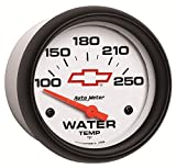 Auto Meter 5837-00406 GM Performance Parts 2-5/8'' 100-250 Degree Fahrenheit Electric Water Temperature Gauge